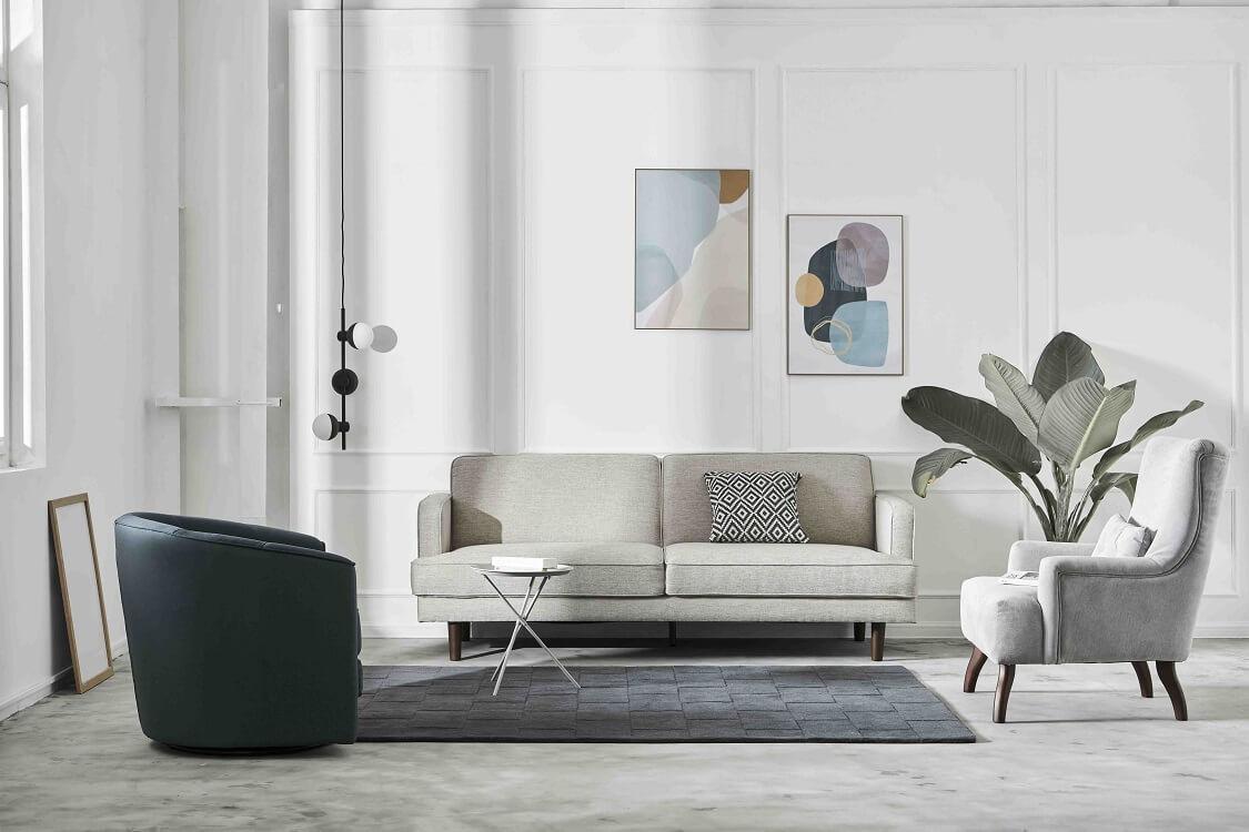 Sofa đôi với đa dạng chất liệu cho khách hàng lựa chọn